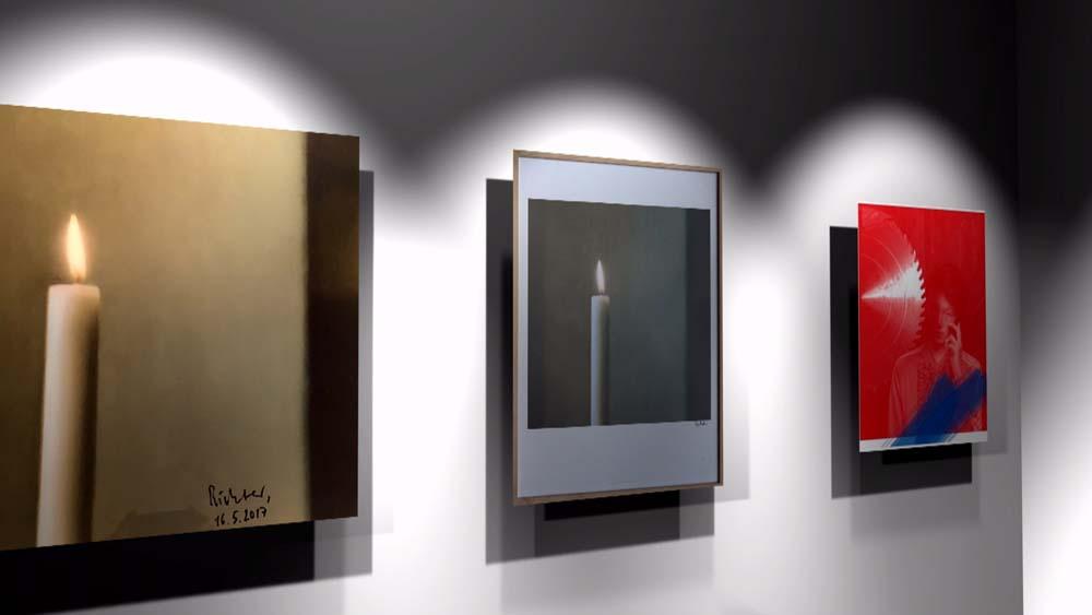 """Benefiz-Kunstaktion """"Not-Licht / Not-Geld"""" von Kunst-hilft-geben e.V."""