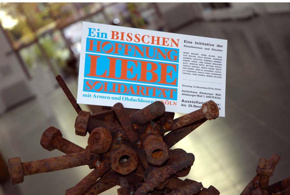Ein bisschen Hoffnung, Liebe, Solidarität – Ausstellung Atelierhaus Köln