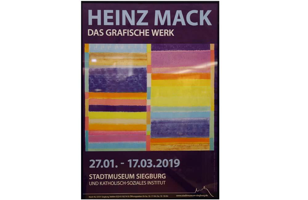 Heinz Mack – Das grafische Werk – Ausstellung KSI + Stadtmuseum Siegburg