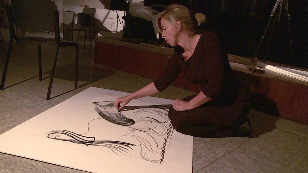Sprich mit mir – Trialog ohne Worte – Performance Stefanie Manhillen, Thomas Rohde