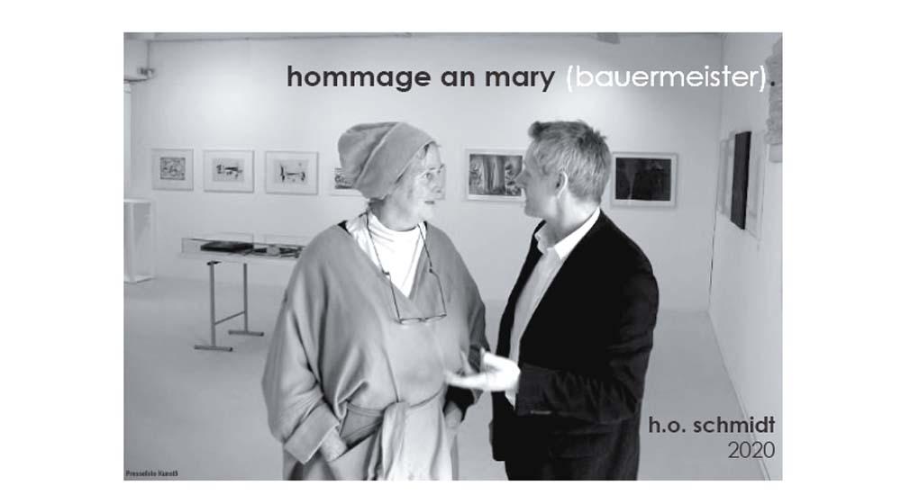 Event: H. O. Schmidt: Hommage a Mary Bauermeister / Eröffnung: 28.8.2020